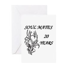 Cute Twentieth anniversary Greeting Card