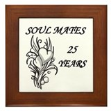 Cute 25th anniversary Framed Tile