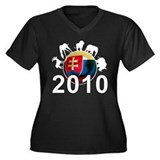Slovakia World Cup 2010 Women's Plus Size V-Neck D