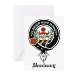 Donleavy Clan Crest Badge Greeting Cards (Package