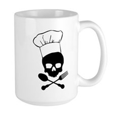 Skull & Crossbones Chef Large Coffee Mug