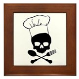 Skull & Crossbones Chef Framed Tile