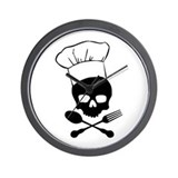 Skull &amp; Crossbones Chef Wall Clock