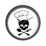 Skull & Crossbones Chef Wall Clock