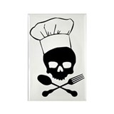 Skull & Crossbones Chef Rectangle Magnet