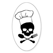Skull & Crossbones Chef Stickers