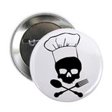 "Skull & Crossbones Chef 2.25"" Button"