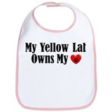 Heart Owning Yellow Lab Bib