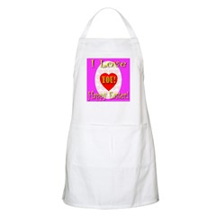 I Love You Happy Easter BBQ Apron