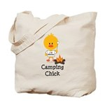 Camping Chick Tote Bag