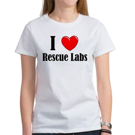 I Love Rescue Labradors Women's T-Shirt