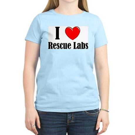 I Love Rescue Labradors Women's Light T-Shirt
