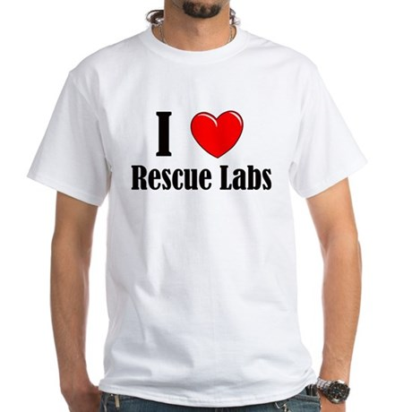 I Love Rescue Labradors White T-Shirt