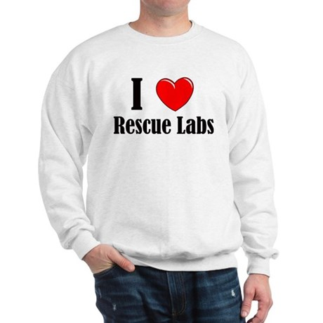 I Love Rescue Labradors Sweatshirt