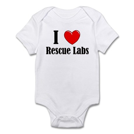 I Love Rescue Labradors Infant Bodysuit