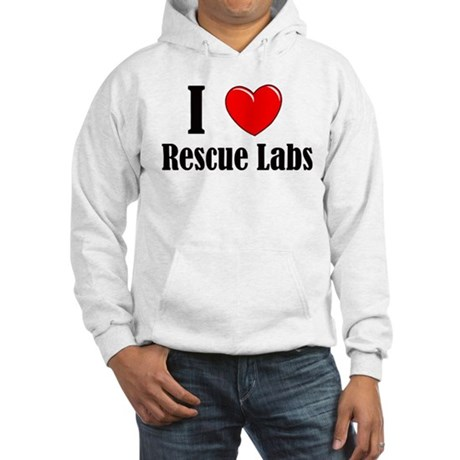 I Love Rescue Labradors Hooded Sweatshirt