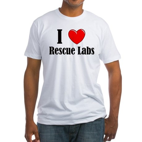 I Love Rescue Labradors Fitted T-Shirt