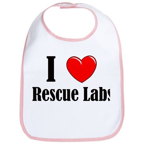 I Love Rescue Labradors Bib