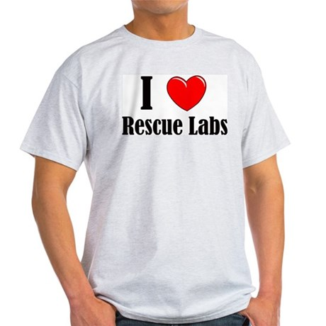 I Love Rescue Labradors Light T-Shirt