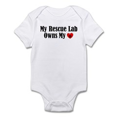 Heart Owning Rescue Lab Infant Bodysuit