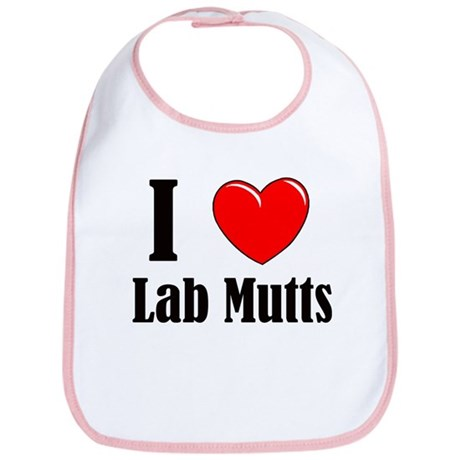 I Love Mixed Labradors Bib