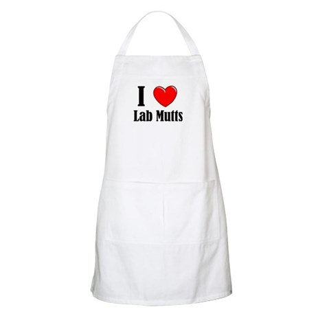 I Love Mixed Labradors Apron