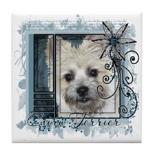 Look in Eyes Cairn Terrier Tile Coaster