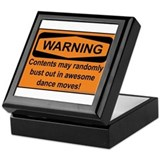 Warning Keepsake Box