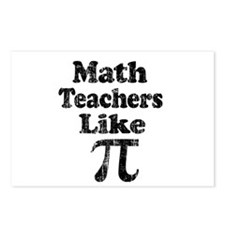 Vintage Math Teachers like Pi Postcards (Package o