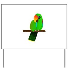Eclectus Male Yard Sign