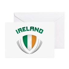 Soccer Crest IRELAND Greeting Cards (Pk of 20)