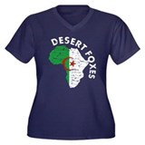 Algerian soccer Women's Plus Size V-Neck Dark T-Sh