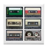 Cassette Tapes Tile Coaster