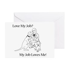 Veterinary Design (Female) Greeting Cards (Pk of 2
