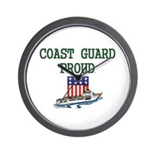 Coast Guard Proud Wall Clock