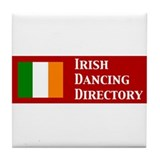 Irish Dancing Directory Tile Coaster