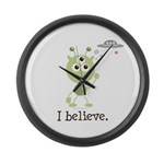 I Believe Alien UFO Large Wall Clock
