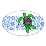 ILY Hawaii Turtle Decal