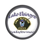 Lake Elsinore Police Wall Clock