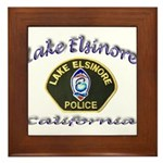 Lake Elsinore Police Framed Tile