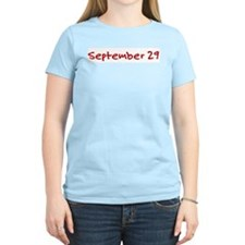 """September 29"" printed on a T-Shirt"