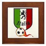 Italian Soccer Framed Tile