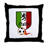 Italian Soccer Throw Pillow