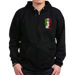 Italian Soccer Zip Hoodie (dark)