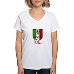 Italian Soccer Women's V-Neck T-Shirt