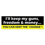 Keep My Guns, Freedom & Money Bumper Bumper Sticker