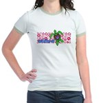 ILY Aloha Hawaii Turtle Jr. Ringer T-Shirt