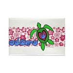 ILY Aloha Hawaii Turtle Rectangle Magnet