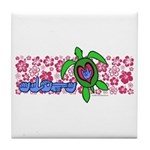 ILY Aloha Hawaii Turtle Tile Coaster