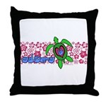 ILY Aloha Hawaii Turtle Throw Pillow